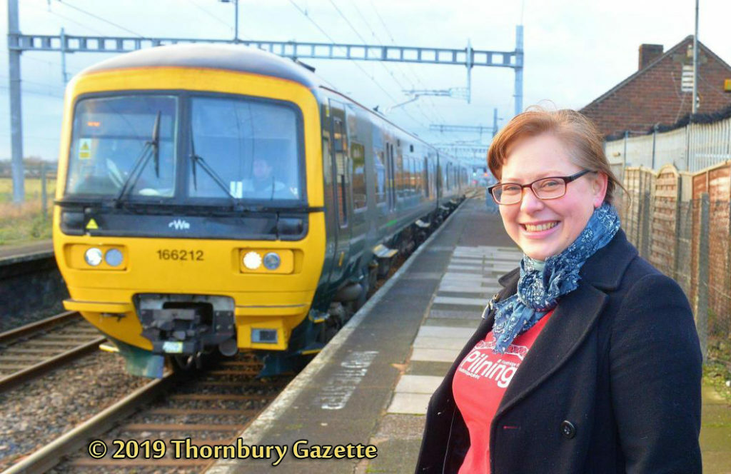 Olga Taylor at Pilning Station